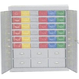 Cassettiera a 42 cassetti plastica/lamiera + porte