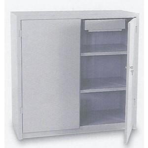 Armadio porta utensili a 2 piani + 2 cassetti interni