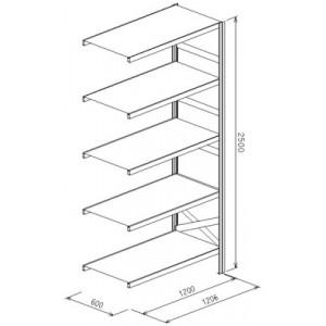 Modulo aggiunto da L.1206xP.610xH.2500  a 5 piani - Port.piano Kg.205