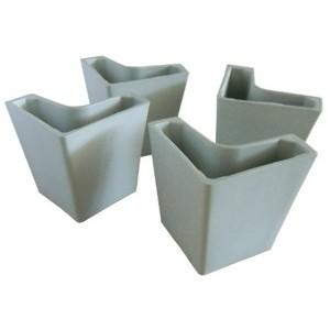 Kit n. 4  copri piede in plastica anticorrosione, colore grigio chiaro