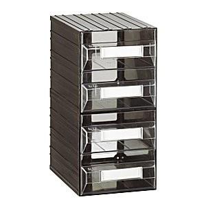 Cassettiera a 4 cassetti plastica TRASPARENTE