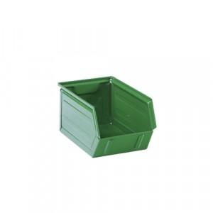 Contenitore lamiera a bocca di lupo L.145xP.240xH.125 - Colore Verde