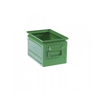 Contenitore lamiera rettangolare L.200xP.300xH.200 - Colore Verde