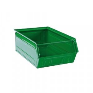 Contenitore lamiera a bocca di lupo L.300xP.500xH.200 - Colore Verde