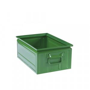 Contenitore lamiera rettangolare L.300xP.450xH.200 - Colore Verde