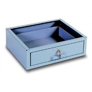 Cassetto in lamiera per banco da lavoro colore grigio