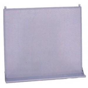 Pannello forato porta attrezzi con mensola colore grigio