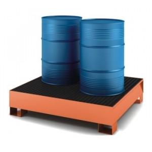 Vasca di raccolta per 4 fusti da litri 200 capacità litri 280