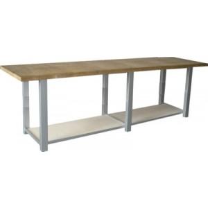 Banco da lavoro con piano in legno multistrato sp.mm.40