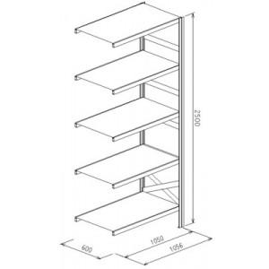 Modulo aggiunto da L.1056xP.610xH.2500  a 5 piani - Port.piano Kg.150