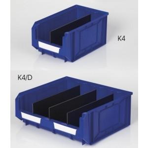 Separatore nero per contenitore K4 - K4/D