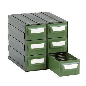 Cassettiera a 6 cassetti pl.VERDI + 12 divisori da L.225xP.263xH.228