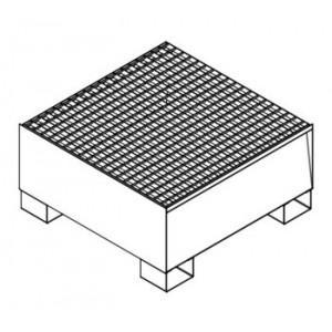 Vasca di raccolta per 1 fusto da litri 200 da L.860xP.860xH.430 capacità litri 210