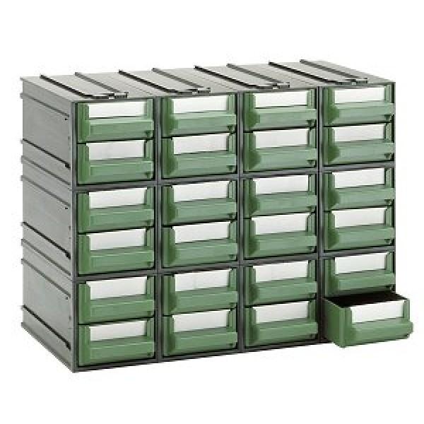 Cassettiere In Plastica Componibili.Cassettiera A 24 Cassetti Plastica Verdi