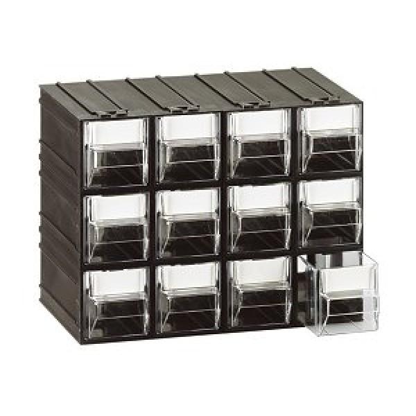 Cassettiere In Plastica Componibili.Cassettiera A 12 Cassetti Plastica Trasparenti