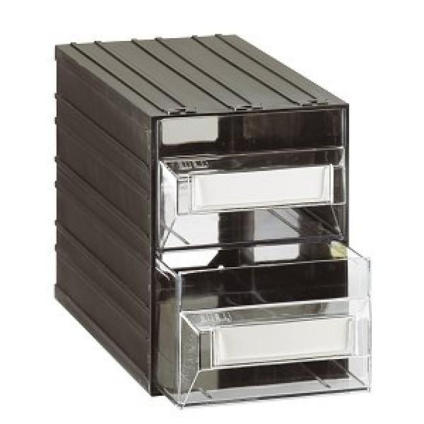 Cassettiere In Plastica Componibili.Cassettiera A 2 Cassetti Plastica Trasparenti