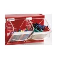 cassettiere in plastica con cassetto basculante